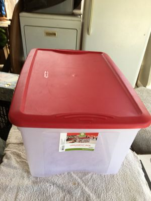 Plastic container for storage . Long 23 inches width 16 inches height 11 inches for Sale in Fresno, CA