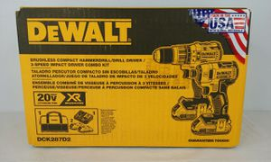 DeWalt 20 volt Max XR Brushless Impact Driver and Hammer Hammer Drill Combo Kit (DCK287D2) for Sale in North Miami Beach, FL
