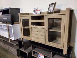 Melissa wine Cabinet, Dark Taupe for Sale in Santa Ana, CA