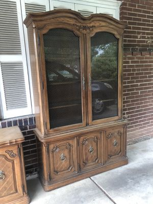China cabinet with folding table cabinet for Sale in St. Louis, MO