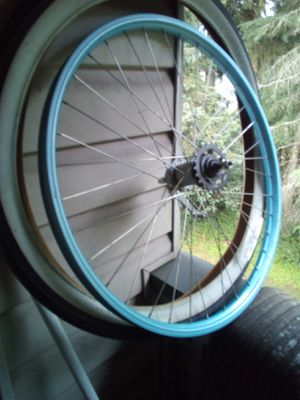 26in bike beach cruiser rear wheel and tire for Sale in Seattle, WA