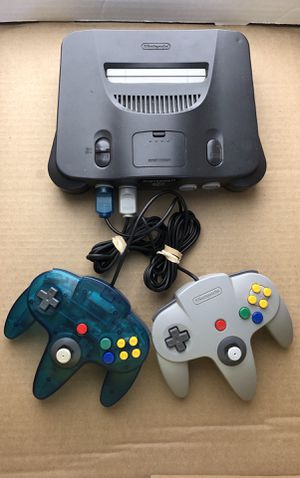 Nintendo 64 N64 + 12 Games and 2 Controllers. < More info Bellow >. for Sale in Margate, FL