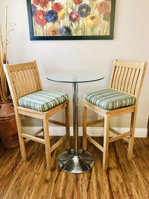 Anderson Teak Bar Height Table set / patio / indoor / outdoor / home & garden / furniture/ cushions optional for Sale in Chula Vista, CA
