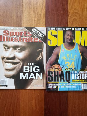 2 Shaquille O'neal Lakers NBA basketball magazines for Sale in Gresham, OR