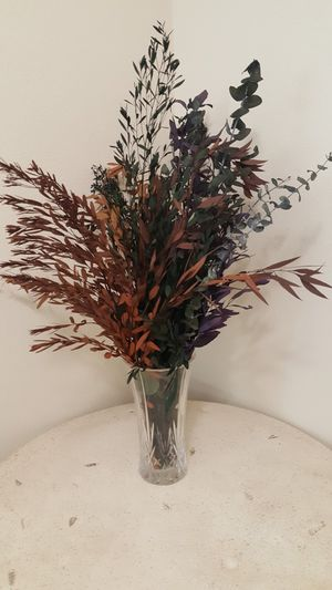 Vase and Dried Flowers for Sale in San Marcos, CA