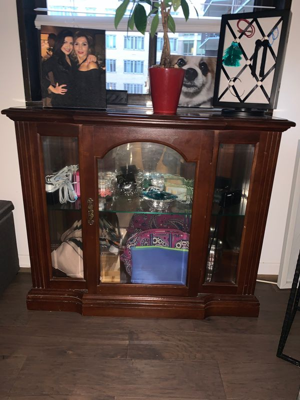 Antique wooden display case/shelving