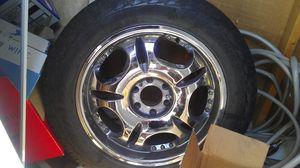 20 in 6 lug Chrome rims w/tires! for Sale in Nashville, TN