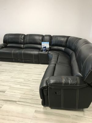 Venice Black Sectional Sofa Set ONLY $999. NO CREDIT CHECK FINANCING for Sale in Tampa, FL