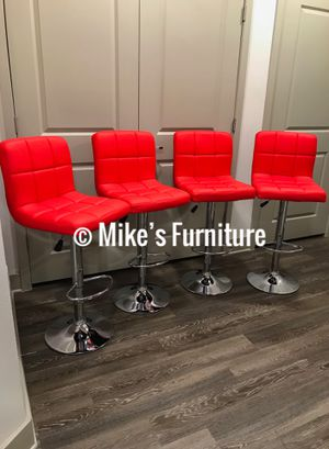 Brand new 4 red bar stools $55 each (Shipping is available) for Sale in Orlando, FL