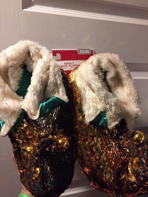 Adult sequin slippers size S/M(5-8) for Sale in Aurora, CO
