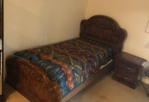 4 items: twin bed frame, night stand, dresser with mirror, china cabinet for Sale in Concord, CA