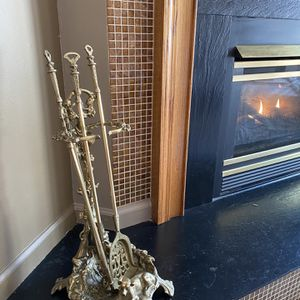 This beautiful Set of three antique fireplace toolset for Sale in Toms River, NJ
