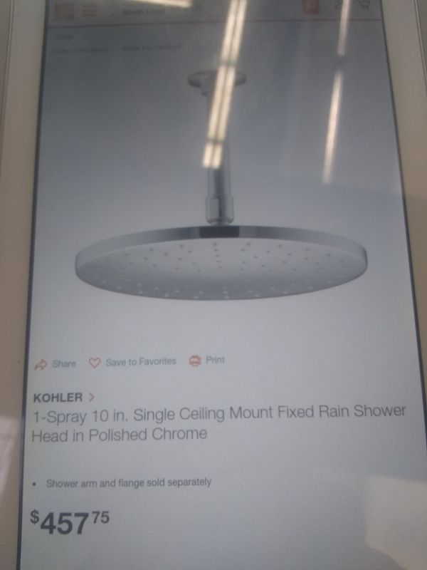 New Kohler 10 inch Chrome shower head