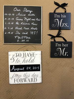 Craft Chalk Wedding Signs (erasable) for Sale in Auburn, WA