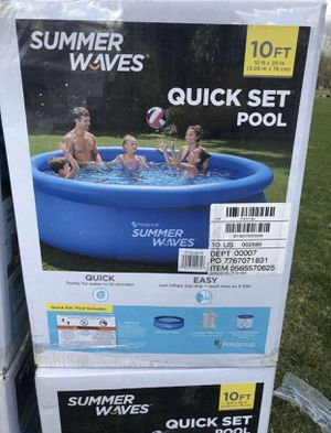 Summer Waves 10ft x 30in Inflatable Ring Quick Set Pool Filter Pump for Sale in Brooklyn, NY