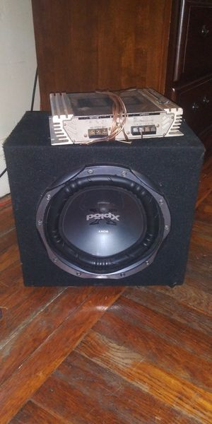 """10"""" subwoofer with box and AMP for Sale in Seekonk, MA"""