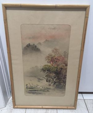Chinese Water Color / Ink Landscape Painting for Sale in Miami, FL