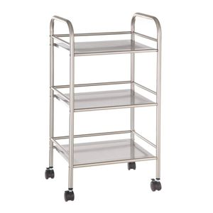 Rolling Metal Cart Kitchen Bathroom Studio Portable Storage Easy Clean Light Sturdy for Sale in Santa Fe, NM