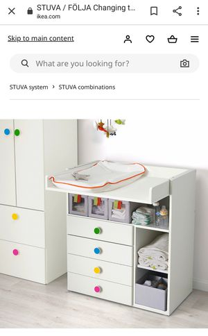 Stuva Ikea White Changing table / kids desk for Sale in Fair Lawn, NJ