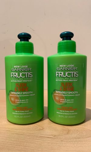 2 Garnier Fructis Sleek & Shine intensely smooth leave-in conditioning cream: both for $5 for Sale in Alexandria, VA