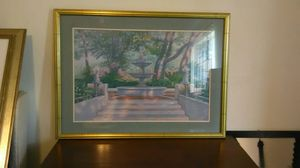Framed picture of fountain for Sale in Venice, FL