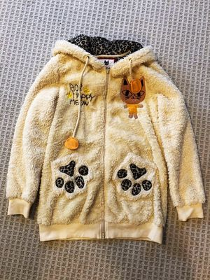 Cute yellow fur cat ear hoodie jacket for Sale in Portland, OR