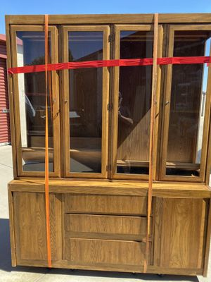 """China hutch (64"""" x 18"""" x 80"""") for Sale in Rancho Cucamonga, CA"""