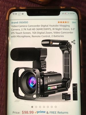 Video camera camcorder 2.7k full had. 36mp for Sale in Philadelphia, PA