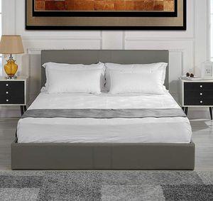 Grey modern Queen bed frame with mattress and mattress topper for Sale in Phoenix, AZ