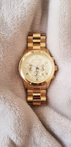 MICHAEL KORS UNISEX GOLD BRACELET WATCH for Sale in Ashburn, VA