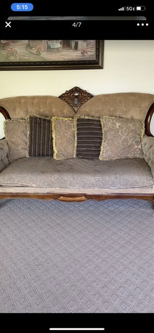 4 pieces 2 chairs 1 loveseat 1 sofa few wood scratches 4 pieces total for Sale in Troy, MI
