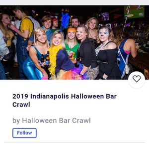 2 tickets to bar crawl on meridian at Oct 26th for Sale in Indianapolis, IN