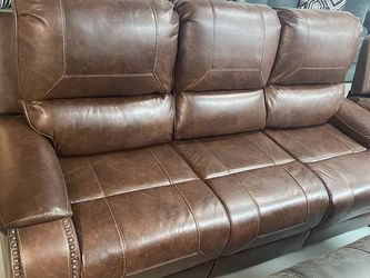 2 Pc Reclining Sofa And Loveseat - Glazed Microfiber for Sale in Murfreesboro,  TN