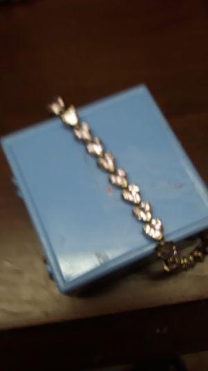 sterling bracelet w/ pink stones for Sale in Madison, VA