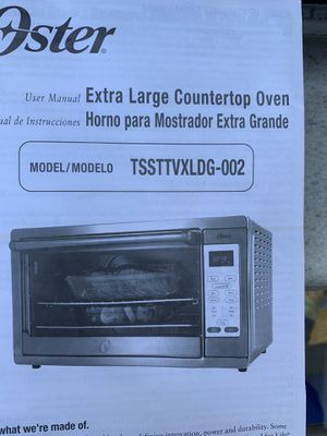 OSTER extra large capacity convection toaster oven for Sale in Santa Cruz, CA
