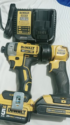 Dewalt impact drill batery 5.0 ah XR .led light 20v.and charger.good condition . for Sale in Meriden, CT