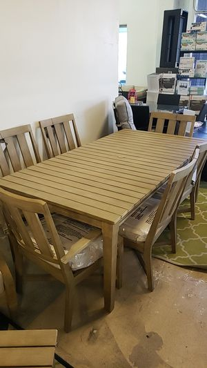 Brand New Ashley Patio Furniture Dining Table Set 7pc tax included and free delivery for Sale in Hayward, CA