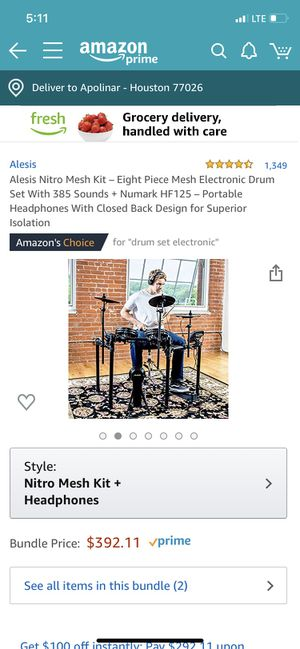 Electric drum set 8 pc. for Sale in Houston, TX