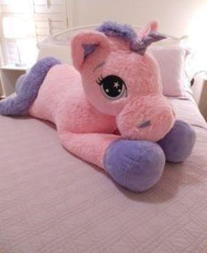 Big unicorn pink lavender plushie for Sale in Lake Elsinore, CA