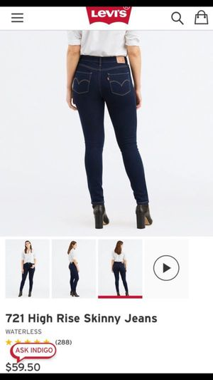 Women levi high rise skinny jean size 16 for Sale in Boston, MA