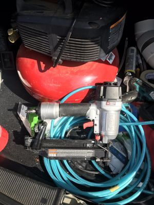 Air compressor and finishing gun for Sale in Oakland, CA