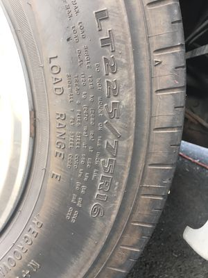 RV Tires LT225/75R16 new price for Sale in Bonney Lake, WA