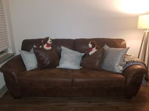 Leather Couch/Loveseat/ Ottoman Set for Sale in Nashville, TN