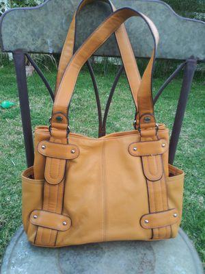 Tignanello Mustard Yellow Leather Tote Bag for Sale in Fallbrook, CA