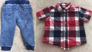 Boy Levis jeans size 18m & button up shirt size 12-18m for Sale in Roselle, IL