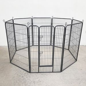"(NEW) $125 Heavy Duty 48"" Tall x 32"" Wide x 8-Panel Pet Playpen Dog Crate Kennel Exercise Cage Fence for Sale in Whittier, CA"