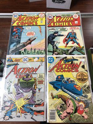 Superman's Action Comics No. 436, No. 444, No. 455, No.481 for Sale in Los Angeles, CA
