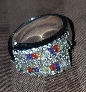 Sparkling Red and Purple Ring for Sale in Trinidad, CA