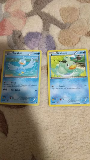 Two Duckett Pokemon cards in Excellent condition for Sale in Hillsboro, OR