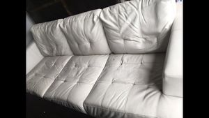 White faux leather couches! for Sale in Chandler, AZ